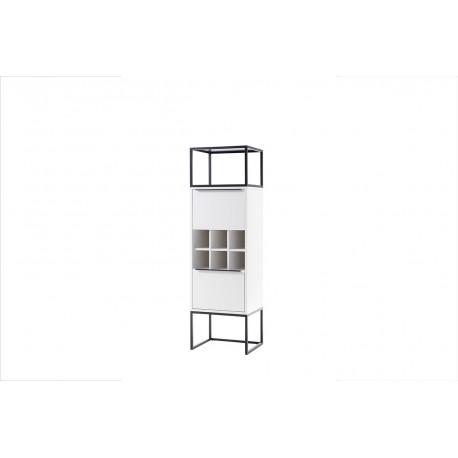 Dakar II lacquered display-storage cabinet