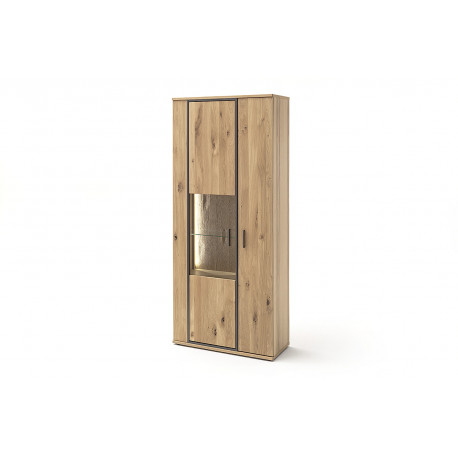Campio 90cm assembled solid wood display cabinet