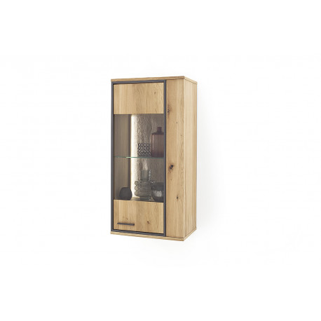 Campio assembled solid wood hanging display cabinet