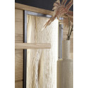 Campio solid wood hanging display panel with led lights