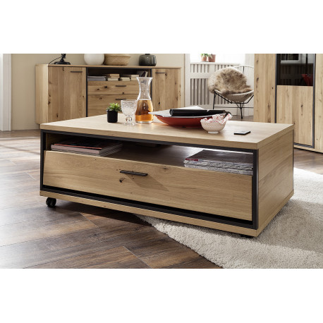 Campio assembled wood coffee table