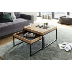 Laro contemporary set of two coffee tables