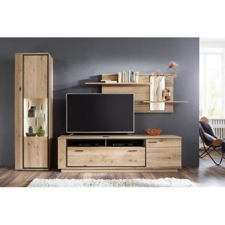 Campio solid wood wall composition