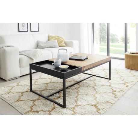 Laro contemporary oak coffee table