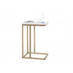 Riverside contemporary table in matt lacquer and oak