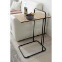 Eusta contemporary table with oak top