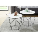 Haiti II contemporary set of two tables with lacquered top