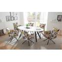 Joel - modern dining chair in premium senile fabric