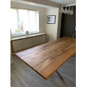 Trebord II bespoke solid wood dining table in various sizes and wood finishes
