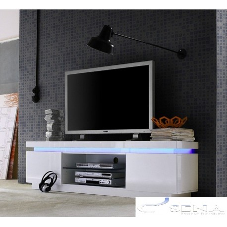 Avanti II - gloss tv unit with LED lights