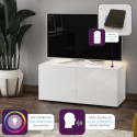 Ferro - intelligent TV Unit with wireless phone charger in white finish