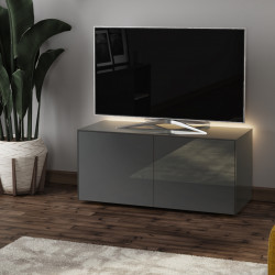 Ferro - intelligent TV Unit with wireless phone charger in grey finish