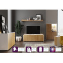 Ferro - intelligent TV Unit with wireless phone charger in white and oak finish