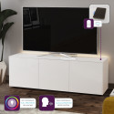 Ferro II - intelligent TV Unit with wireless phone charger in white finish