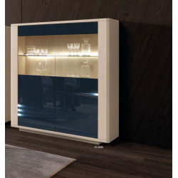 Siena - luxury bespoke display cabinet with lighting