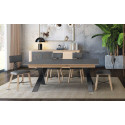 Cut extendable bespoke dining table with ceramic top
