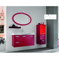 Rosa - lacquer bathroom set
