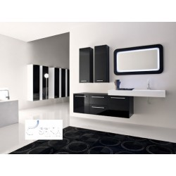 Nero II - lacquer bathroom set