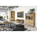 Piraeus assembled solid wood two doors display cabinet