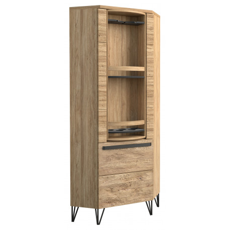 Piraeus assembled solid wood narrow rotating cabinet