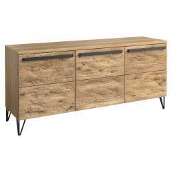 Piraeus assembled solid wood sideboard