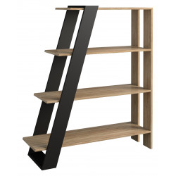 Piraeus assembled solid wood bookcase