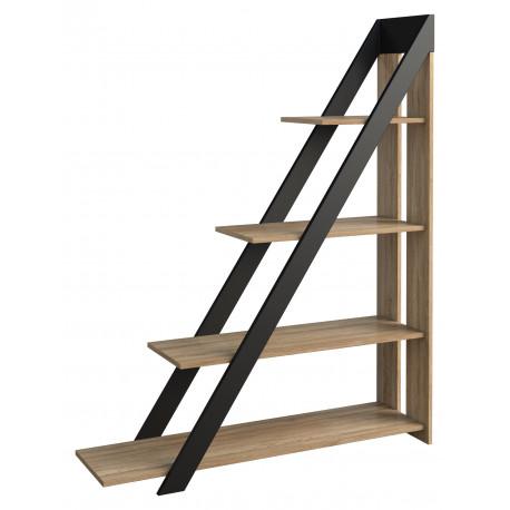 Piraeus II assembled solid wood bookcase