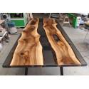 Aria V bespoke grey resin dining table