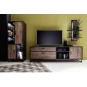 Halifax 220cm large TV unit in Oak barrique