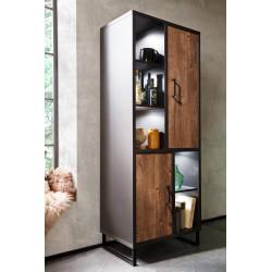 Halifax modern display cabinet in Oak barrique