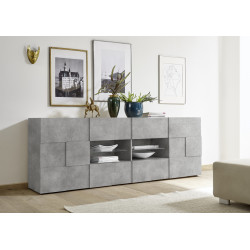 Diana 241cm concrete imitation sideboard with LED lights