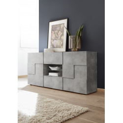 Diana 181cm concrete imitation sideboard with LED lights