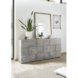 Diana 181cm three doors concrete imitation sideboard