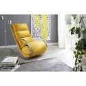 Nola yellow finish modern armchair with footstool