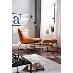 Washington modern armchair with footstool