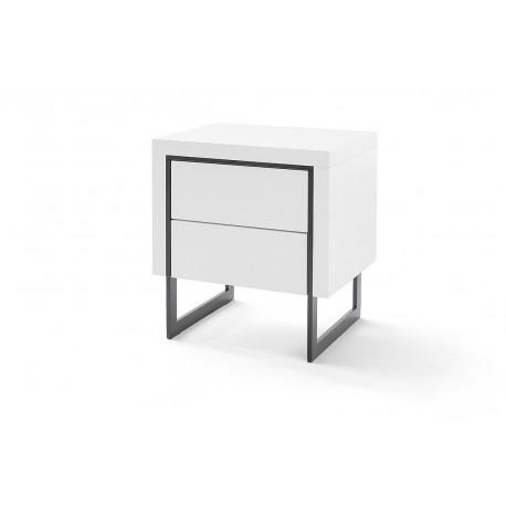 Cooper II set of two bedside cabinets in matt white