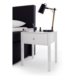 Alis II set of two bedside cabinets in matt white