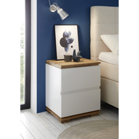 Chiaro set of two bedside cabinets with oak