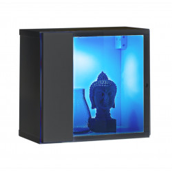 Switch small square modular wall unit with LED lights