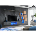 Switch II - modular wall unit with LED lights