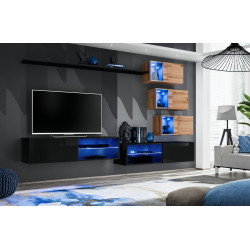 Switch VIII - modular wall unit with LED lights