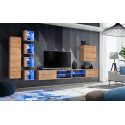 Switch XIII - modular wall unit with LED lights