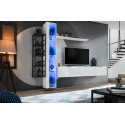 Switch M2 modular wall unit with LED lights and metal rack