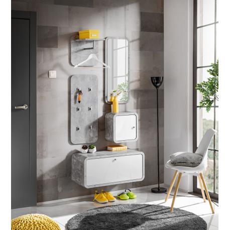 Wally IV modern hallway furniture composition