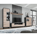 Round 160cm TV cabinet with LED lights
