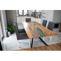 Island bespoke resin dining table