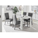 Carrara 180cm dining table in white marble imitation finish