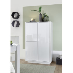 Ice storage cabinet in white high gloss finish