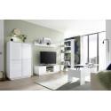 Ice 139cm modern TV unit in white high gloss finish