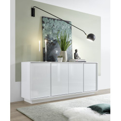 Ice 180cm modern sideboard in white gloss finish